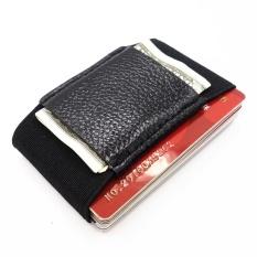 Toko Minimalis Dompet Pemegang Peta Tipis Elastis Magic Kartu Kredit Pemegang With Uang Tunai And Koin Kunci Pocket Business Card Holder Dompet Hitam Termurah