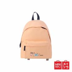 Jual Cepat Miniso Official Canvas Backpack Tas Ransel Orange 08F10 7813Mn