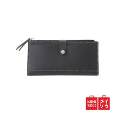 Jual Miniso Official Snap Fastener Long Wallet Indonesia
