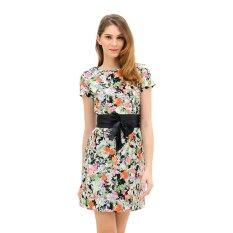 Diskon Produk Mint Angelique Dress Motif Multiwarna