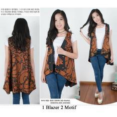 Miracle 2in1 Atasan Blouse Diana Blazer Batik Wanita