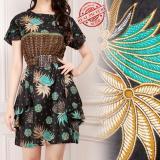 Harga Miracle Atasan Dress Midi Veny Batik Terusan Wanita Satu Set