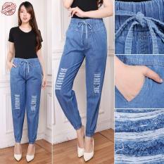 Miracle Celana Panjang Andrea Longpants Jeans Sobek Wanita