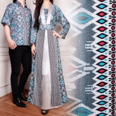 Miracle Couple Gamis Longdress Batik Melinda - Abu