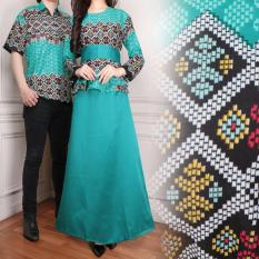 Miracle Couple Gamis Maxi Longdress Satin-Hijau