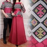Spek Miracle Couple Gamis Maxi Longdress Satin Maroon Miracle