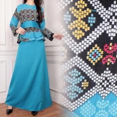 Miracle Gamis Dress Batik Jumbo Longdress Kinanti - Biru