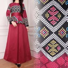 Miracle Gamis Dress Batik Jumbo Longdress Kinanti - Merah