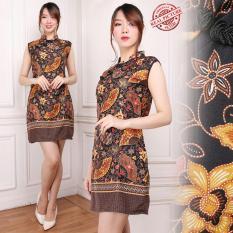 Harga Miracle Midi Dress Keysha Cheongsham Batik Wanita Branded