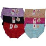 Misslily Celana Dalam Wanita Cd Renda Random Color 12Pcs Ashafa Diskon 50