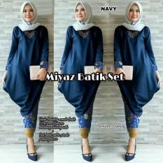 Miyaz Batik Set Navy [Hijab 0152] QKU