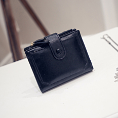 Toko Miyin Korea Fashion Style Siswa Perempuan Gesper Lipat Wallet Baru Wanita Wallet Hitam Lengkap