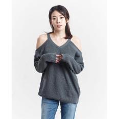 Jual Miyoshi Jeans My17Bl006Mc Fancy Blouse Knit Grey Ori