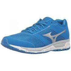 Mizuno Pria SYNCHRO MX Lari Shoe, Directoire Biru/Perak, 7 D AS-Internasional