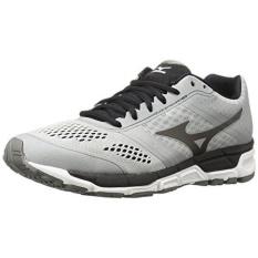 Mizuno Pria SYNCHRO MX Lari Shoe, Perak/Gelap Shadow/Hitam, 9.5 D Kami-Internasional
