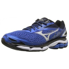 Mizuno Mens Wave Menginspirasi 13 Running Shoe, Kuat Biru/Perak, 10.5 2E KAMI-Internasional