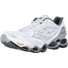 Mizuno Lari Pria MIZUNO WAVE PROPHECY 6 Sepatu Lari, Putih/Perak/Emas,
