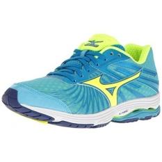 Mizuno Wanita Wave Sayonara 4 Lari Shoe, Atol Biru/Bolt, 7.5 B Kami-Internasional