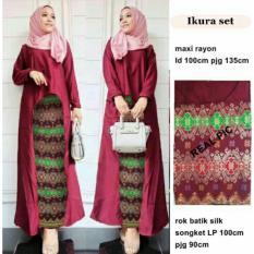 MJ 3in1 Hijab Ikura - Maroon
