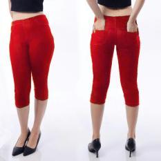 Jual Mj Celana Pendek Jeans Merah Online