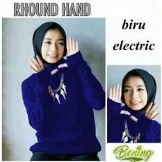 MJ Roundhand Sweater woman - Electrik Blue