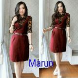 Review Mj Dress Rossy Maroon