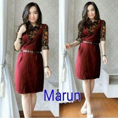 Spesifikasi Mj Dress Rossy Maroon Baru