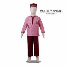 MKA 100 PA Marun1 2-13tahun baju koko anak gambar kartun