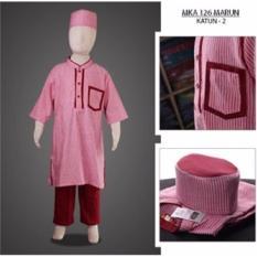 MKA126Marun (2-13tahun) baju koko anak eksklusif elegan