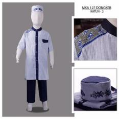 MKA 127 Dongker 2-13 tahun baju koko anak gemuk model gamis
