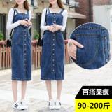 Spesifikasi Rok Overalls Wanita Jeans Model Setengah Panjang Biru Biru Murah