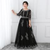 Spek Mm Hitam Perempuan Baru Perjamuan Rok Gaun Gaun Malam Hitam