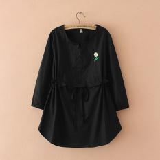 MM Katun Di Bagian Panjang Orang Gemuk Baju Dalaman Kaos (Hitam)