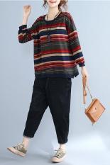 Berapa Harga Mm Korea Daging Kepemilikan Longgar Bergaris Lengan Panjang Kemeja T Shirt Gambar Warna Baju Wanita Baju Atasan Kemeja Wanita Oem Di Tiongkok