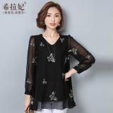 Spesifikasi Mm Atasan Terlihat Langsing Lengan Pendek Kemeja Sifon Korea Fashion Style Perempuan Hitam Merk Oem