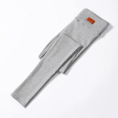 Harga Mm Katun Perempuan Tebal Pakaian Luar Elastis Bottoming Celana Abu Abu Terang Yang Murah Dan Bagus