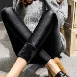 Harga Mm Perempuan Musim Gugur Dan Dingin Pakaian Luar Pinggang Tinggi Kulit Celana Tambah Beludru Bottoming Celana Hitam Baju Wanita Celana Wanita Tiongkok