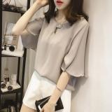 Beli Mm Sifon Perempuan Setengah Panjang Model Baju Dalaman Longgar Lengan Pendek T Shirt Merah Muda Warna Other Asli