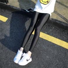 Toko Mm Ditambah Beludru Bagian Tipis Dari Pakaian Luar Ukuran Plus Kode Celana Panjang Musim Gugur Dan Musim Dingin Legging Sembilan Poin Hitam Baju Wanita Celana Wanita Termurah