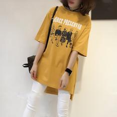 MM Anda Meningkatkan Kode Tipis Lengan Pendek Blus Kaus (Hitam) Baju Wanita Gaun Wanita Gaun Wanita