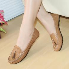 MNS14 - Sepatu Flashoes Wanita / Sepatu Santai Slipon Gratica Is09 tan