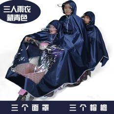 Mobil Listrik Sepeda Listrik Ibu Dan Anak Dua Orang Jas Hujan Jas Hujan (Tiga Orangtua Dan Anak Angkatan Laut)