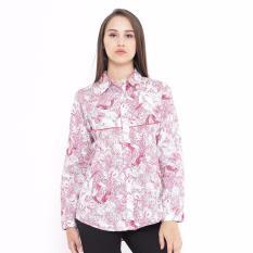 Review Shirt Woven Print Corak Pink Mobile Power Ladies C8370 Dki Jakarta