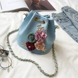 Beli Mode Bunga Ember Tas Biru Cicil