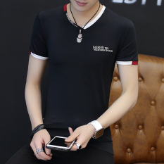 Harga T Shirt Pria Lengan Pendek Kaos Dalam Modis V Neck Hitam Baju Atasan Kaos Pria Kemeja Pria Merk Oem