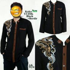 Ulasan Lengkap Model Baju Muslim Pria Koko Yudi Bordir Black