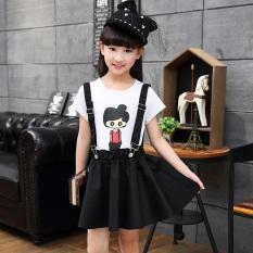 Model Gadis Musim Panas Baru Denim Tali Rok (Grosir Hitam Katun Jas)