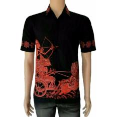 Diskon Model Kemeja Batik Pria Kemeja Batik Pekalongan Kemeja Batik Modern Motif Arjuna Merah Azka Batik