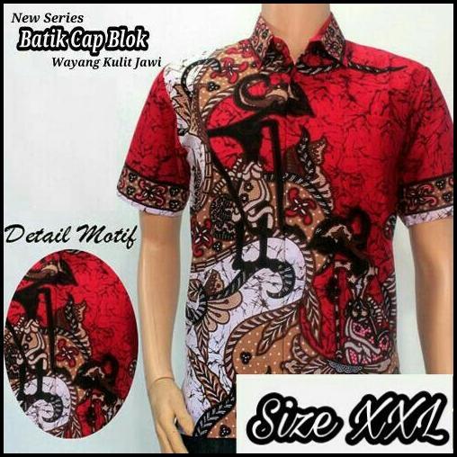Model Kemeja Batik Pria Kemeja Batik Pekalongan Kemeja Batik Modern Motif  Pandawa XXL 04bf6b8c7d