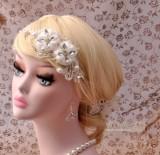 Harga Model Korea Kualitas Unggul Mempelai Wanita Menikah Manik Manik Bunga Hiasan Rambut Termahal